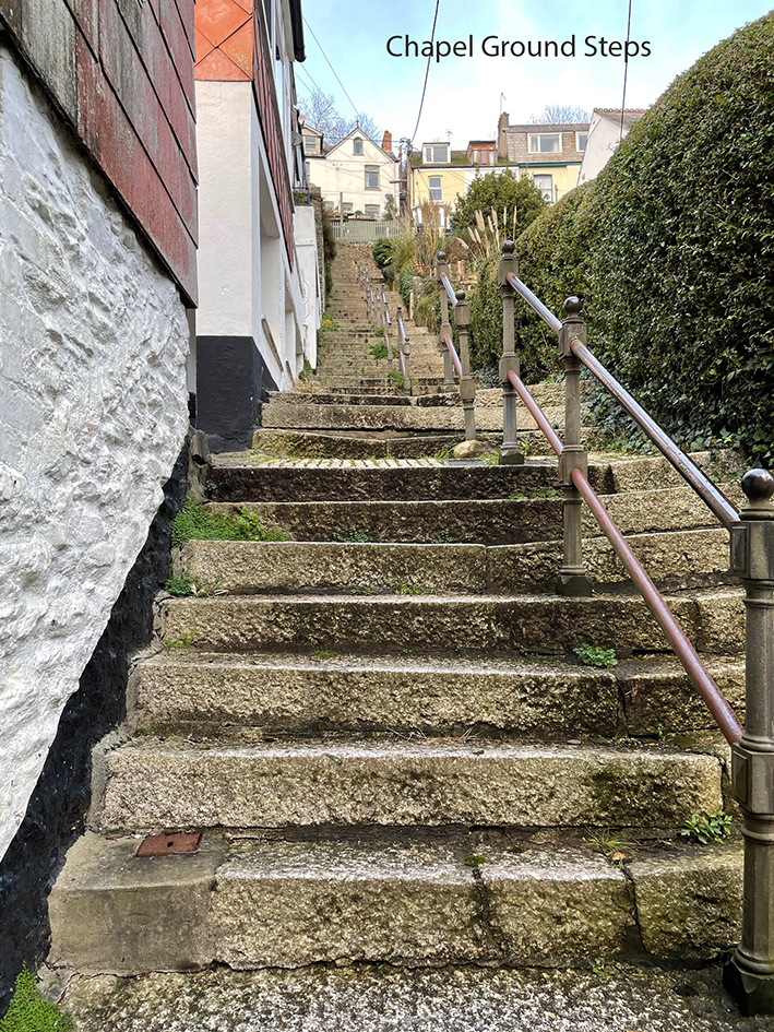 Chapel Ground Steps - Looe View Cottage