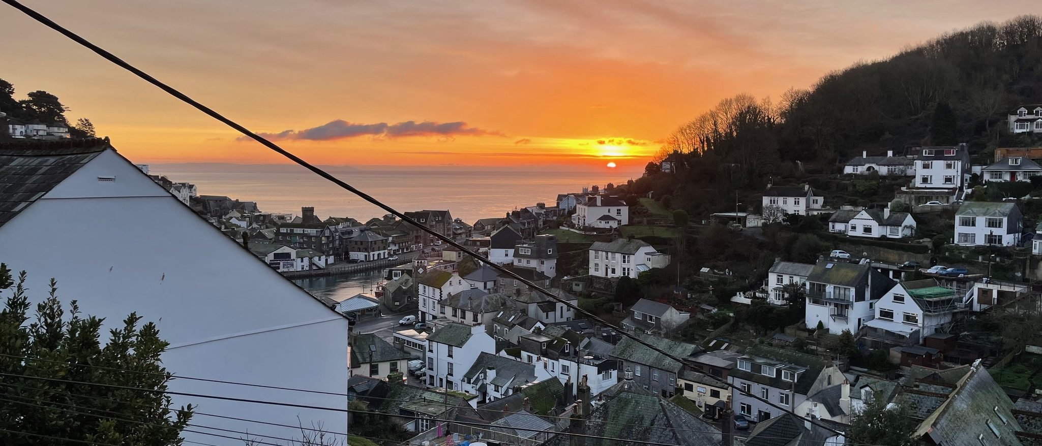 Sunrise from the balcony - Looe View Cottage