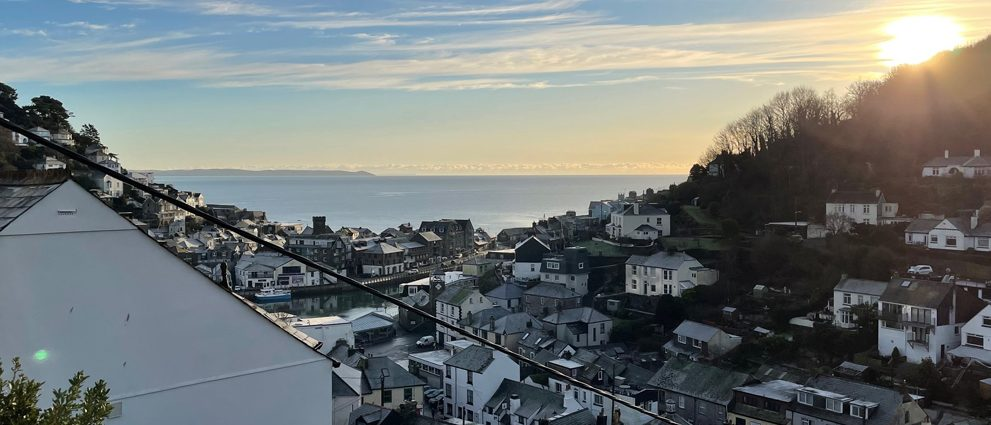View from the balcony - Looe View Cottage